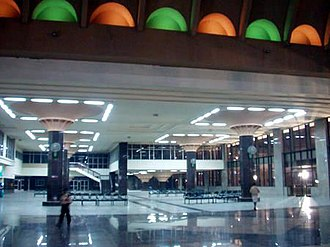 Chennai Mofussil Bus Terminus - The CMBT, the terminus for all intercity bus services from Chennai