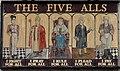 Chepstow - The Five Alls inn sign - geograph.org.uk - 484144.jpg