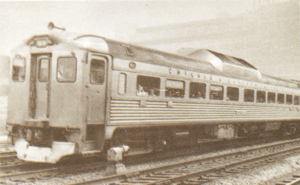 Meadowlark (train) - The Meadowlark in 1957, after a Budd Rail Diesel Car replaced the streamlined equipment.