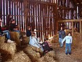 Children having fun on the farm here a barn built in 1800's - panoramio.jpg