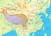 Karta över Kina.