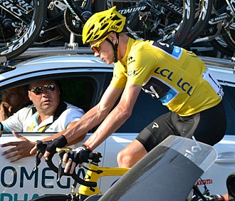 Team Sky - Chris Froome on his way to winning the 2013 Tour de France.
