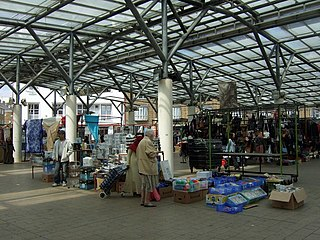 pedestrian shopping area in the London Borough of Tower Hamlets