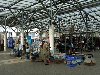 Chrisp Street Market - The market stalls are located under a canopy