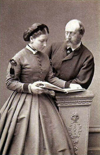 Princess Helena of the United Kingdom - Princess Helena and Prince Christian, part of a series of photographs following their engagement in 1865