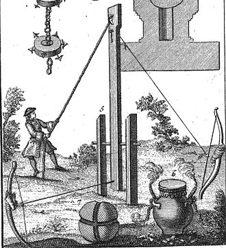 Incendiary device - Essay on fireworks for spectators and for warfare by Jean-Charles Perrinet d'Orval, 1745