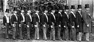Son - King Chulalongkorn of Siam (far right) with a few of his 33 sons at Eton College in 1897
