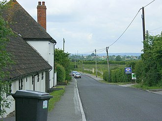 Heywood, Wiltshire - Image: Church Road, Heywood geograph.org.uk 846776