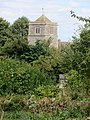 Church in Yarwell from the recreation ground - August 2013 - panoramio.jpg