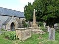 Churchyard and cross, Drayton - geograph.org.uk - 1361363.jpg
