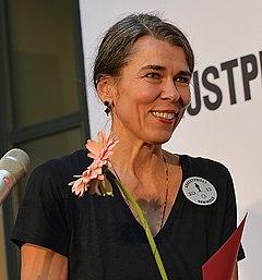 Cilla Naumann under Augustprisnomineringen 2012