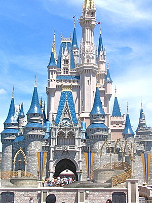 English: Cinderella Castle Magic Kingdom 07 Edited