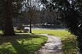 Claremont Landscape Gardens Island Lake and Bench 20120224.JPG
