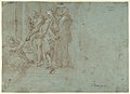 Classical Battle Scene; Verso- Peter and John Heal a Cripple at the Gate of the Temple MET DP102249.jpg