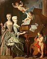 Claude Arnulphy - Adélaïde de Gueidan et sa sœur au clavecin.jpg