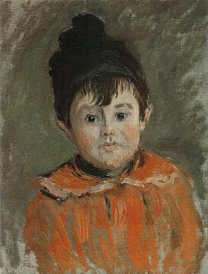 Portrait of Père Paul - Image: Claude Monet Portrait Michel Pompom Hat