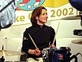Claudia Pechstein on drums (102506546).jpg