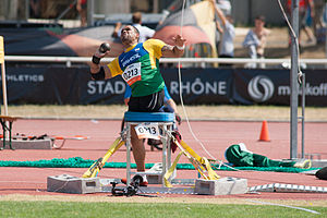 2013 IPC Athletics World Championships -  Claudiney Batista dos Santos of Brazil in the T56/57 shot put