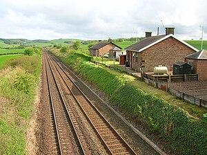 Closeburn railway station - Closeburn station master's house looking towards Auldgirth.