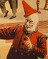 Clown art detail, Barnum & Bailey clowns and geese (cropped).jpg