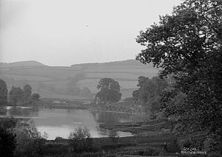 Clun lake from castle terrace