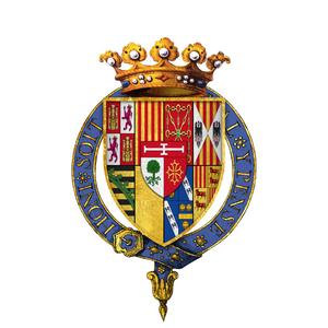 Bernard de Nogaret de La Valette d'Épernon - Gartered arms of Bernard de Nogaret de Foix, Duc d'Épernon, KG