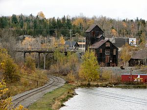 Cobalt, Ontario - Historic mine in Cobalt, 2007.