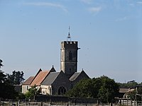 Colleville-Montgomery, Double chevet et clocher de l'église 2.JPG