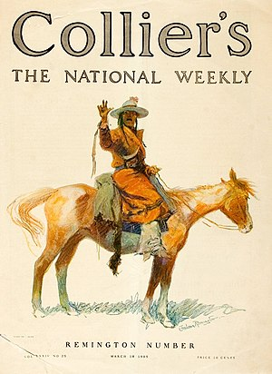 Collier's - Cover illustration by Frederic Remington (March 18, 1905)