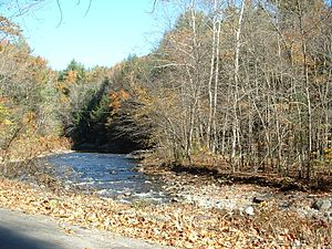 Colrain, Massachusetts - The Green River, flowing along the Colrain border