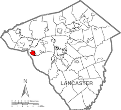 Location of Columbia in Lancaster County