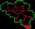 Communes belges touchées par la peste porcine africaine.png