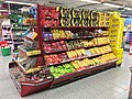 Confectionary and candy at display in Kiwi Allehelgensgate grocery store-supermarket in Bergen, Norway 2017-10-18 b.jpg