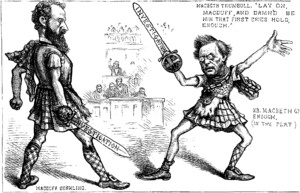 English: A sword fight between U.S. Senators R...