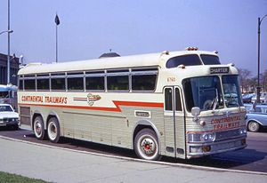 Eagle Bus - A 1962 Eagle Model 01 coach of Continental Trailways in 1968