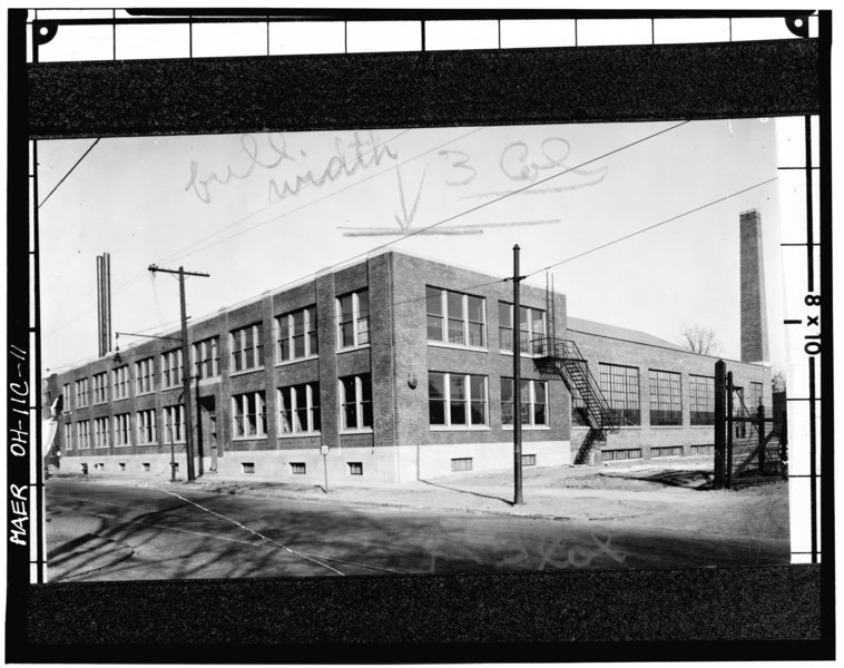 File copy of mid 20th century photograph showing aerial for 20th century motor company