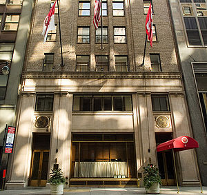 Cornell Club of New York - A view of the front entrance to the Cornell Club of New York
