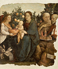 Madonna with child and Saints Quirinus and Francis