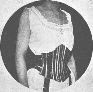 Waist cincher - Image: Corset ceinture de repos(1)
