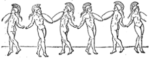 Korybantes - Image: Corybantian dance from Smith's Dictionary of Antiquities (SALTATIO article)