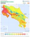 Costa-Rica DNI Solar-resource-map lang-ES GlobalSolarAtlas World-Bank-Esmap-Solargis.png