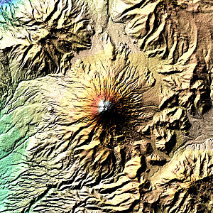 Cotopaxi - Image: Cotopaxi Volcano dem