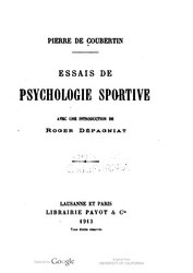Français: Essais de psychologie sportive