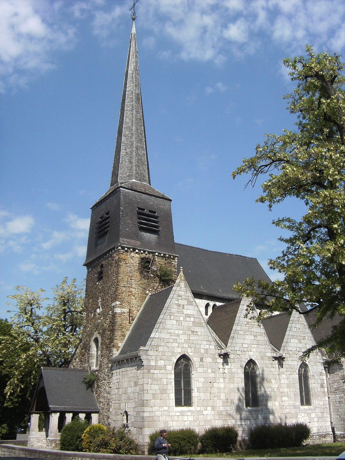 Église Saint-Laurent de Couillet — Wikipédia
