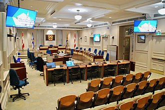 Halifax Regional Council - Image: Council Chambers, Halifax City Hall