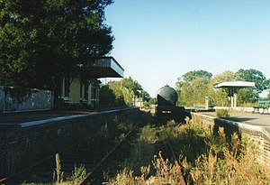 Mid-Norfolk Railway - County School in 1996, before restoration by the MNRPT.