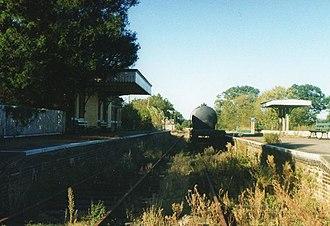 Mid-Norfolk Railway - County School in 1996, before restoration by the MNRPT.