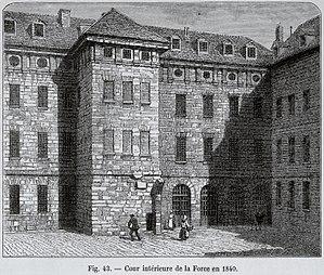 La Force Prison - Image: Cour intérieure de la Force en 1840