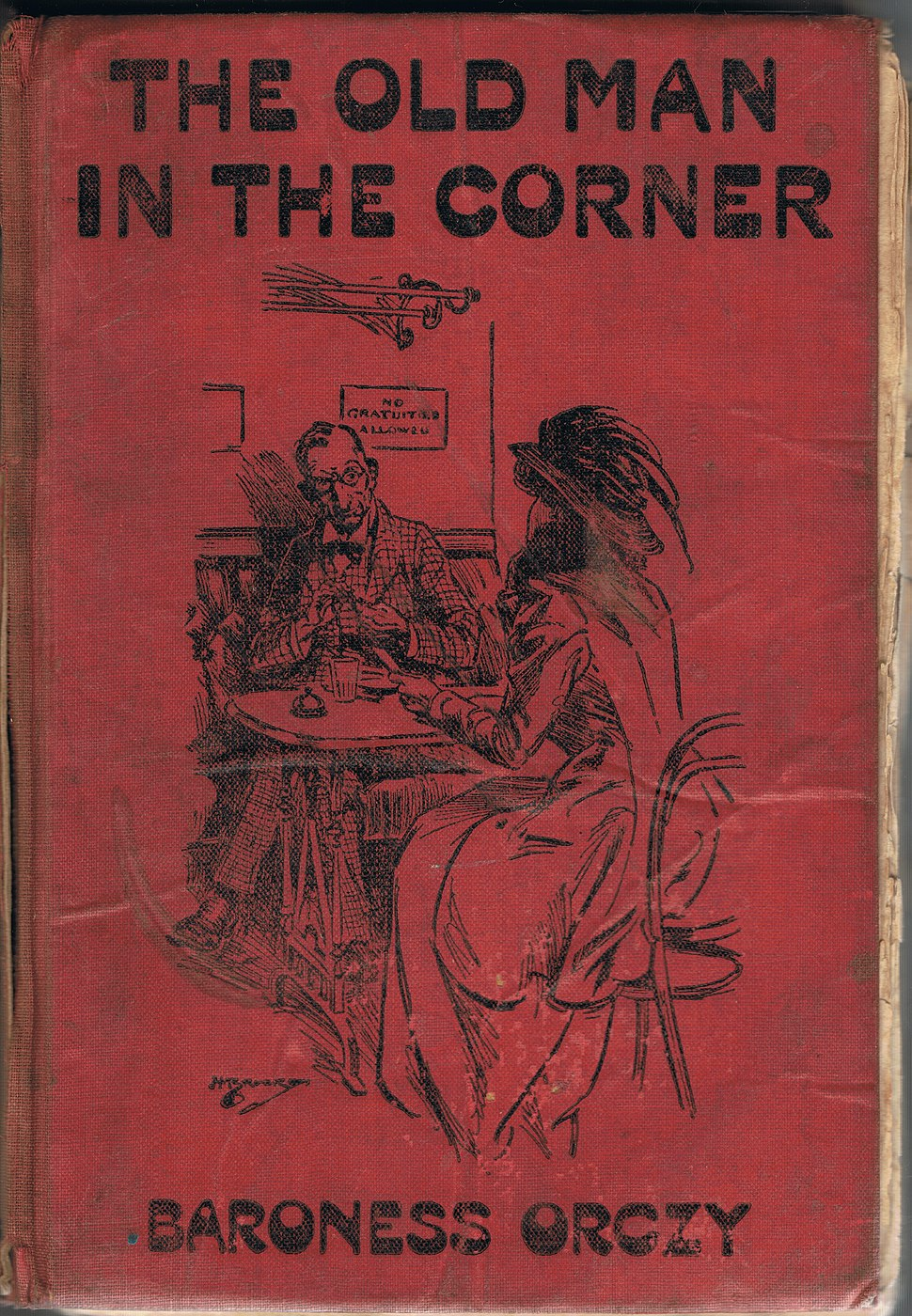 Cover of Baroness Orczy's THE OLD MAN IN THE CORNER, popular edition, Greening & Co., Ltd., London, 1910