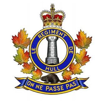 Le Régiment de Hull (RCAC) - Image: Crest of Le Régiment de Hull